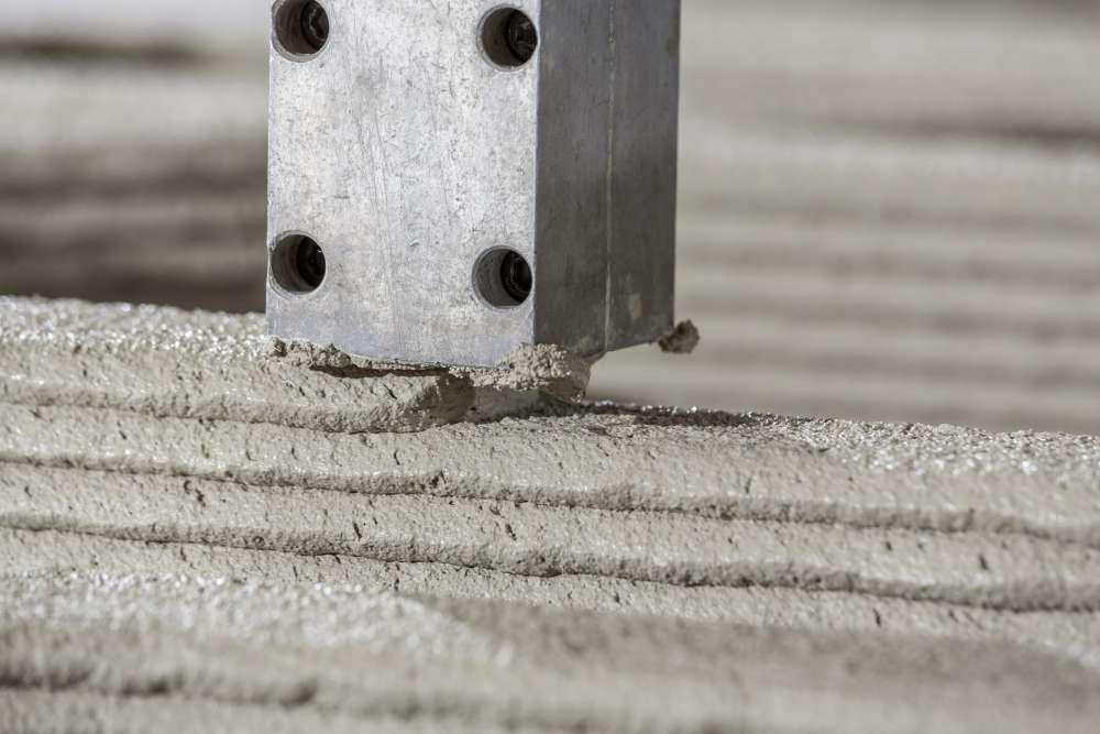 3D printed concrete.