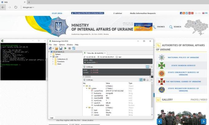 Kremlin credentials found in the internet-exposed database of a Ukrainian ministry