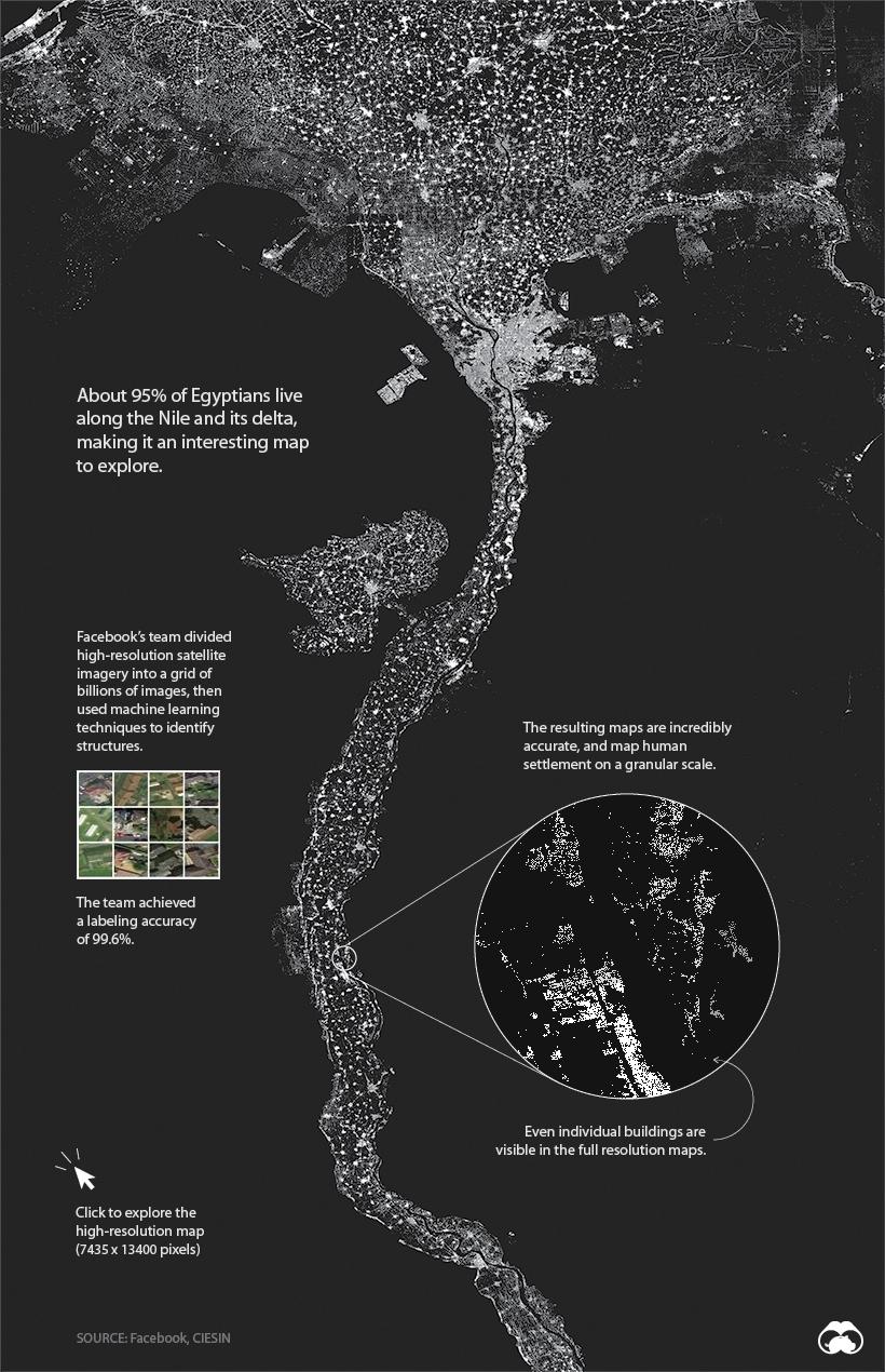 facebook population density egypt map