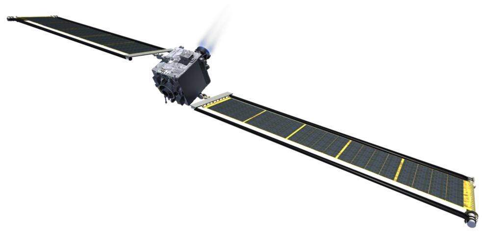 DART spacecraft with the Roll Out Solar Arrays (rOSA)