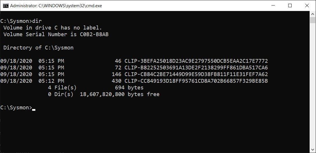 Protected C:\Sysmon folder