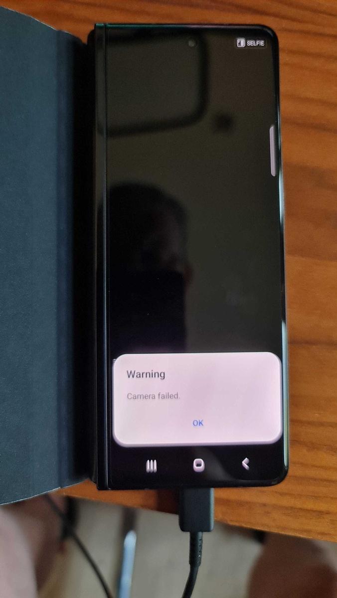 Samsung Galaxy Z Fold 3 bootloader unlocked camera failed