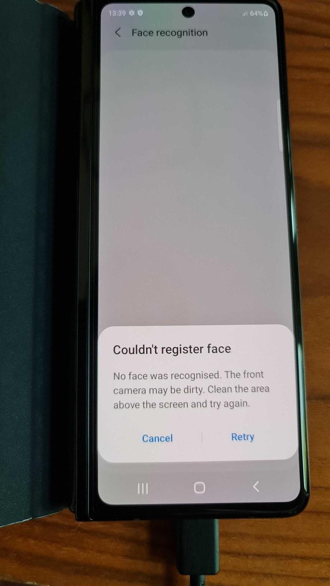 Samsung Galaxy Z Fold 3 bootloader unlocked face unlock failed